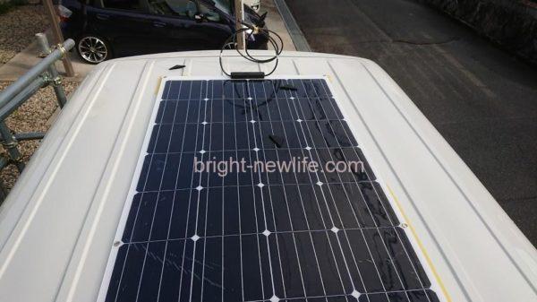 ハイエースに一人でソーラーパネルをDIYで取り付け!